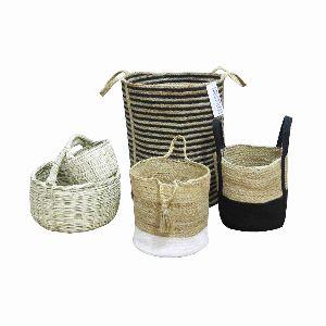 Decorative Large Laundry Baskets With Handles Custom Jute Baskets