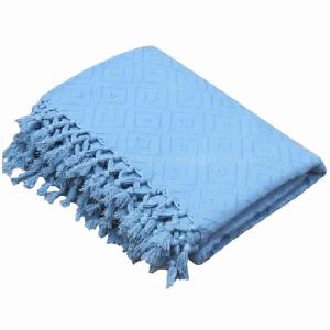 Designer Cotton Throws Blanket In Blue Cheap Throws