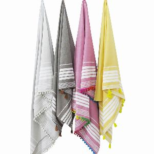 Ethnic Striped Hammam Fouta Towel