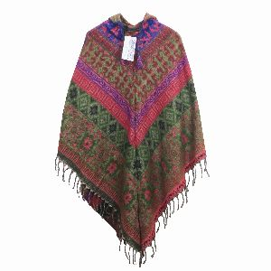 Acrylic Wool Poncho Sweater