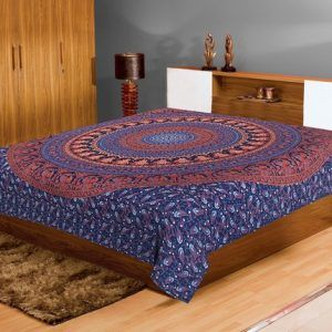 Cotton Double Mandala bed sheet Bohemian Tapestry