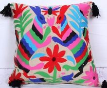 Silk Embroidery Cushion Cover