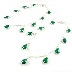 925 Sterling Silver Jewelry Ethnic Emerald Gemstone Anklets