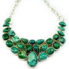 Designer Turquoise Gemstone Necklace