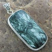 Favorite 925 Sterling Silver Green Moss Agate Gemstone Pendant