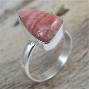 Rhodochrosite Gemstone Fancy Shape Ring