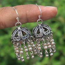 Sterling Silver Jhumka Oxidized Jewelry