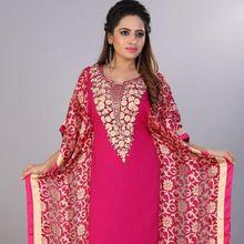 Embellished Silk Embroidery Kaftan