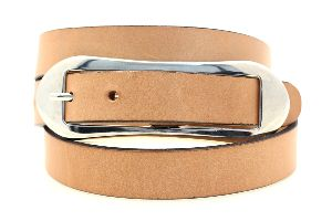 Ladies Tan Leather Belt