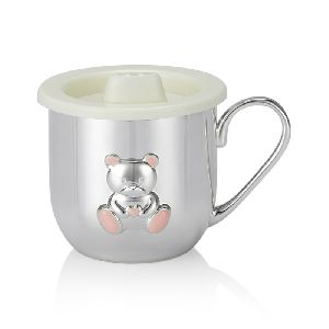 Pink Teddy Bear Baby Cup