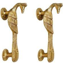 Brass Door Handle Of Peacock Figure