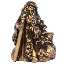 Religious Metal Sculpture Santa Claus