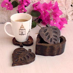 Wooden Tea Coaster Holder