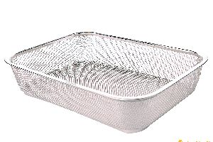Stainless Steel Flat Fruit Basket
