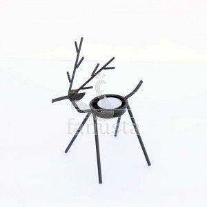 Iron Reindeer T-light Holder