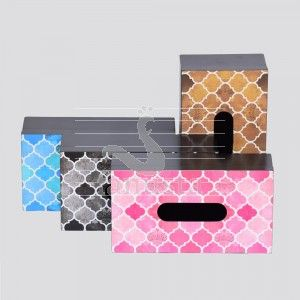 Moroccan Pattern Mdf Wood Tissue Box