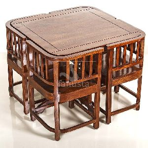 Shisham Wood Square Dining Table