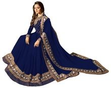 Floor Length Resham And Sequence Work Semi-stitched Anarkali Suit
