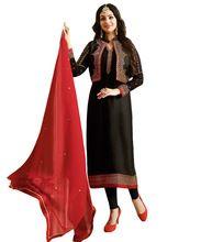 Jacket Style High Quality Satin Salwar Kameez