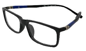 1cebefb74b8 Justkartit Office Wear Rectangle Shape Black And Blue Color Unisex Full Rim  Spectacle Frame