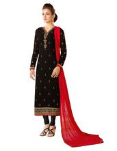 Ladies Casual Office Wear Semi-stitched Georgette Salwar Kameez