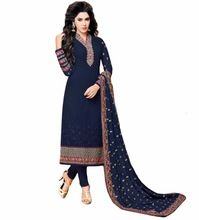 Occasion Party Wear Heavy Embroidery Semi-sttiched
