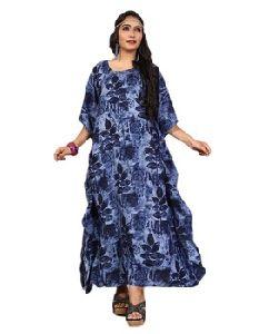 Stylish Printed Rayon Soft Cotton Women\'s Kurtas Kaftans