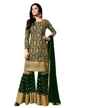 Women New Palazo Style Semi-stitched Suit