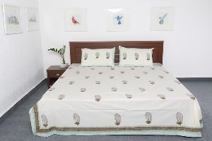 Cotton Bed Sheets 2 Pillow Covers Vidbs9034