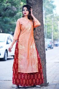 Exclusive Designer Long Pattern Traditional Indian Dress