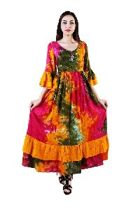 Exclusive Designer Pure Cotton Party Wear Women's Dress Viku8005