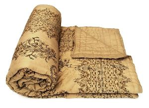 Exclusive Handmade Pure Cotton Filling Block Printed Jaipuri Razai Quilt