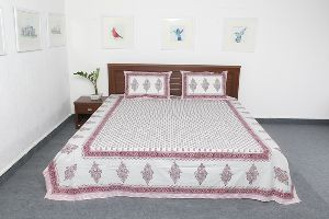 Exclusive Jaipuri Printed Pure Cotton Double Bed Size Bed Sheet Vidbs9037