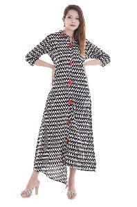 Exclusive Party Wear Designer Printed Cotton Kurti Kurta Womens Dress