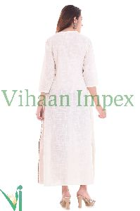 Indian Stylish Party Wear Designer Printed Cotton Kurtis For Women Viku2636
