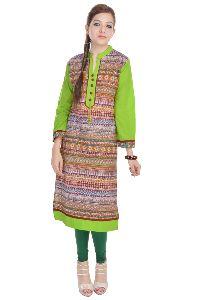 Ladies Casual Wear Cotton Fabric 3/4 Sleeve Kurti Kurta Dress