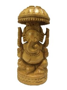 Lord Ganesha Handmade Carved Wooden Handicraft