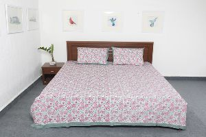 Pure Cotton Fabric Designer Printed Double Bed Sheet Vidbs9022