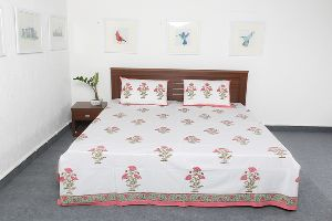 Pure Cotton Hand Block Printed Double Bed Sheet Vidbs9028