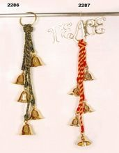 Solid Brass Christmas Bell Wall Hanging