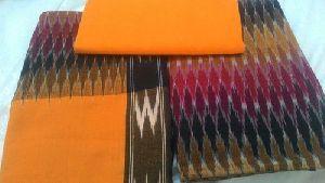 Ikat Cotton Dress Material