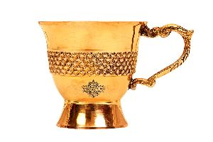Brass Handmade Designer Tea Cup, Serveware Tableware 100 Ml