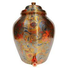Pure Copper Designer Grey Water Pot