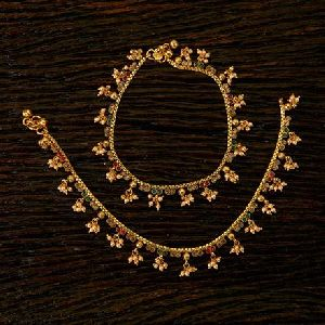 Antique Delicate Payal With Gold Plating