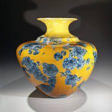 Yellow Ceramic Vase