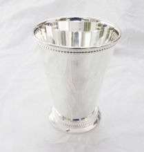 Brass Mint Julep Cup Silver Plated