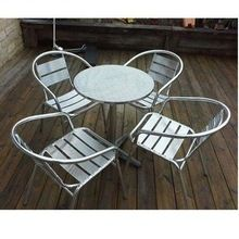 Stainless Steel Table And Chair , Garden Table And Chair, Out Door Furniture