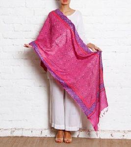 Pink Silk Stole