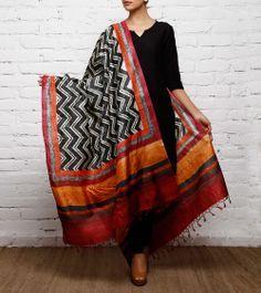 Tussar Silk Printed Dupatta