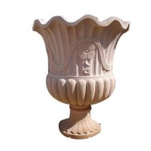 White Marble Flower Pot Handicraft